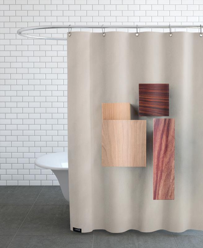 Cherry Cocobolo Padauk Wood I Shower Curtain