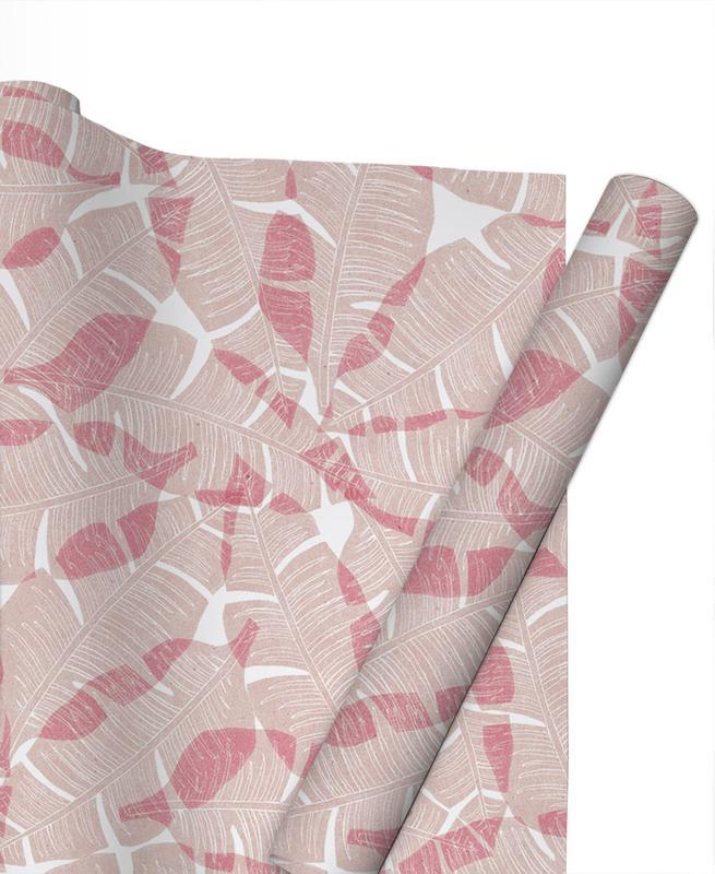 Feuilles & Plantes, Motifs, Palma Pinkblush papier cadeau