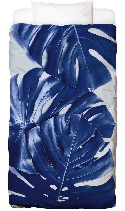 Monstera Blue Bed Linen