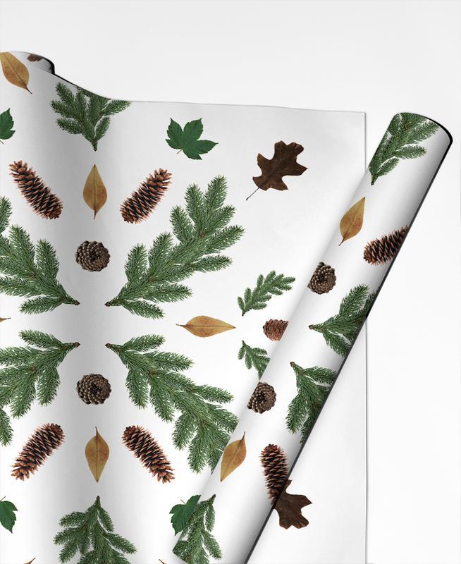 Feuilles & Plantes, Winterland 01 papier cadeau