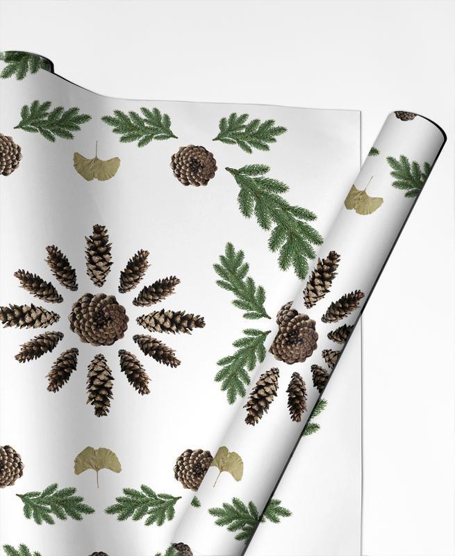 Feuilles & Plantes, Winterland 02 papier cadeau
