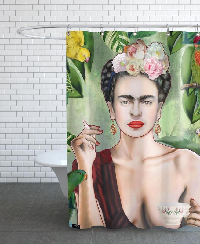 Frida Con Amigos -Duschvorhang