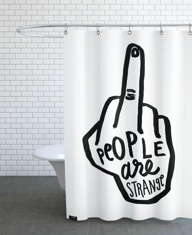 People Are Strange B&W -Duschvorhang