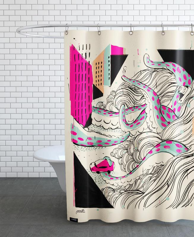 Giants Pulpo Shower Curtain