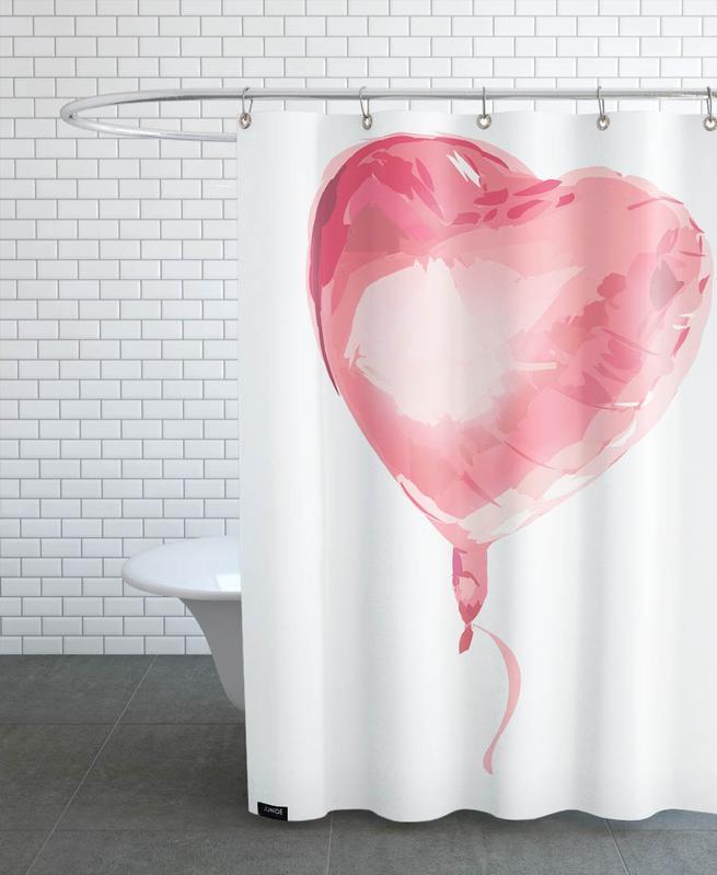 Herzen, Liebe & Jahrestage, Hochzeiten, Heart Balloon -Duschvorhang