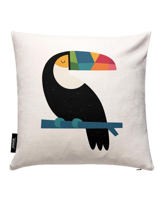 Rainbow Toucan Cushion Cover