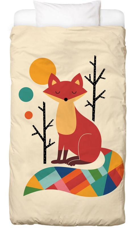 Rainbow Fox -Kinderbettwäsche