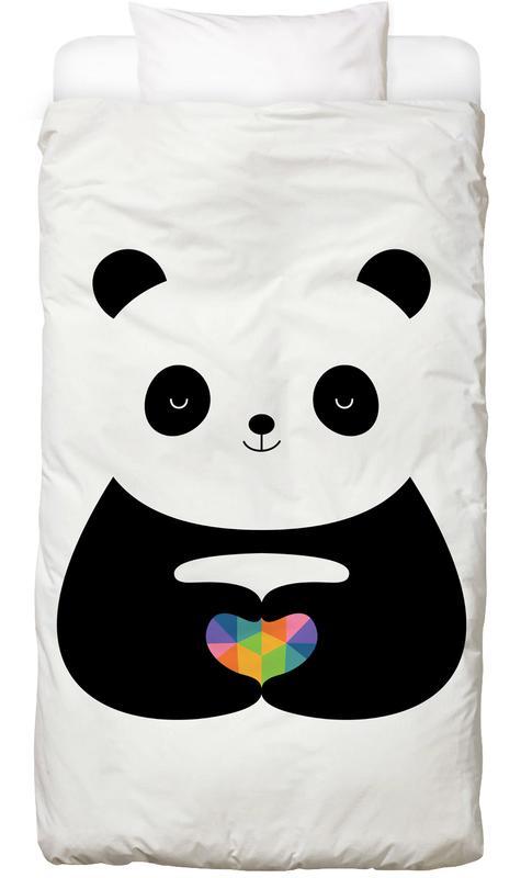 Liebe & Jahrestage, Herzen, Pandas, Panda Love -Kinderbettwäsche