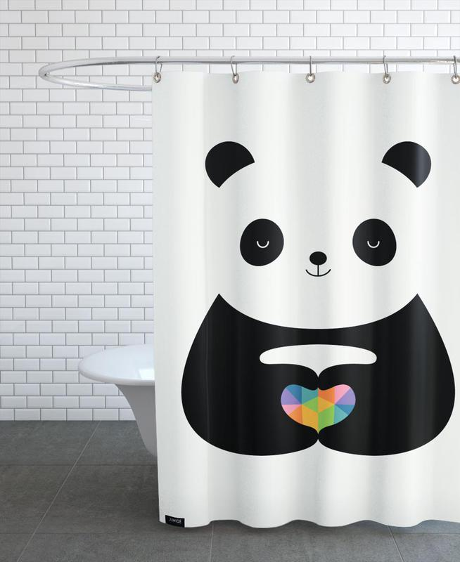 Panda Love -Duschvorhang
