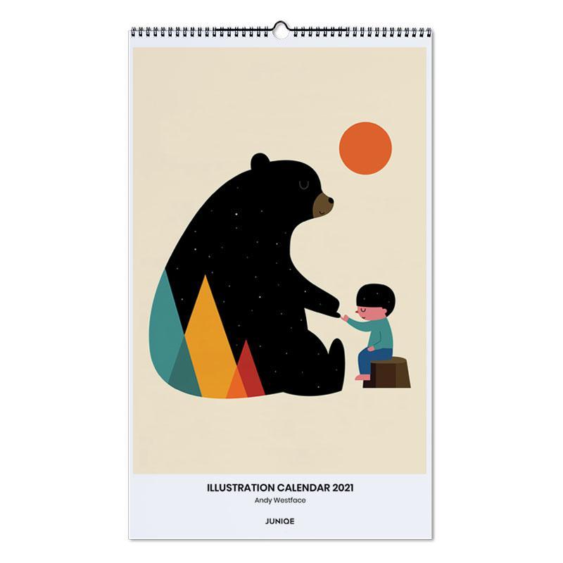 Kunst voor kinderen, Andy Westface - Illustration Calendar 2021 wandkalender
