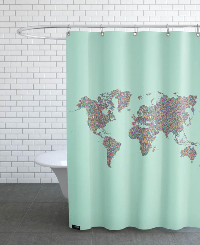 Slum World Shower Curtain