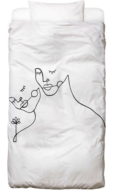 Schwarz & Weiß, Paare, Lovers Bettwäsche