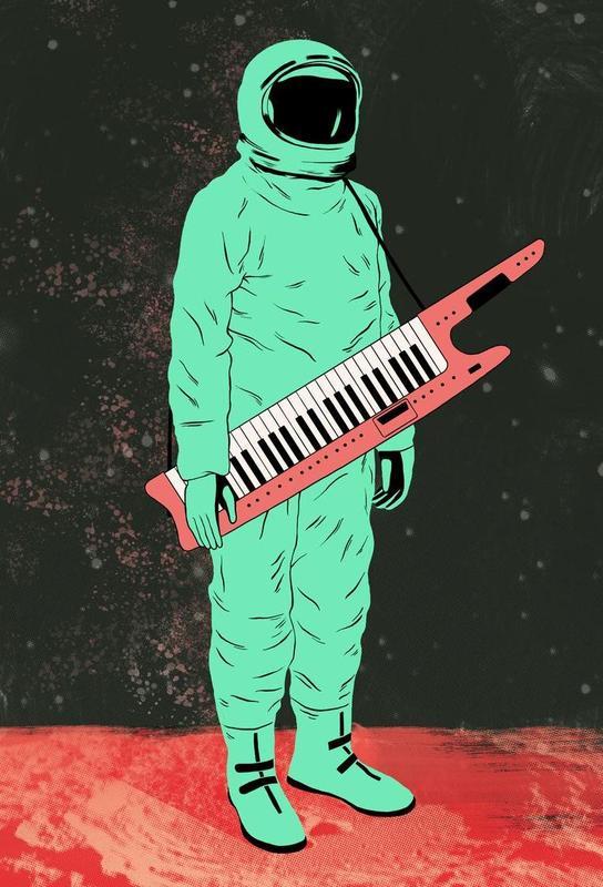 Space Jam Aluminium Print