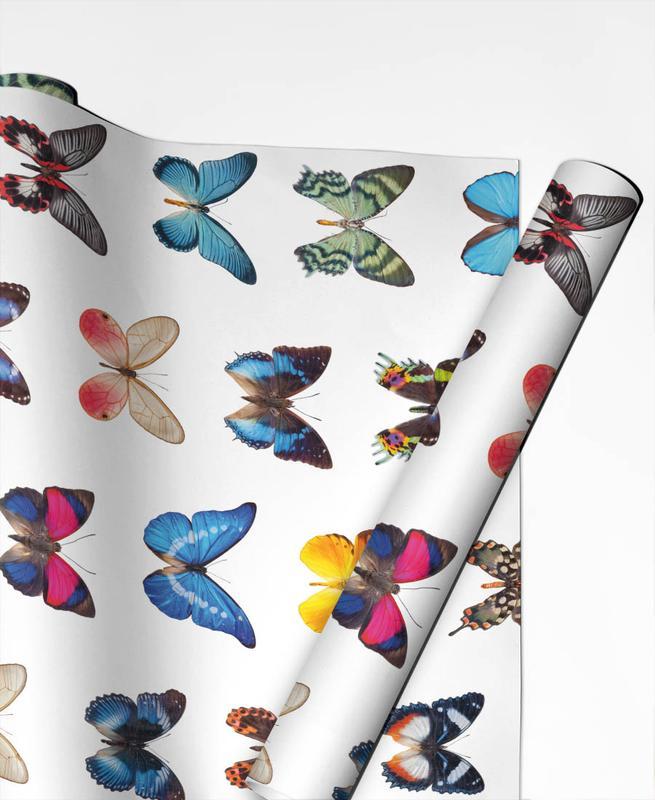 Colourful Butterflies -Geschenkpapier