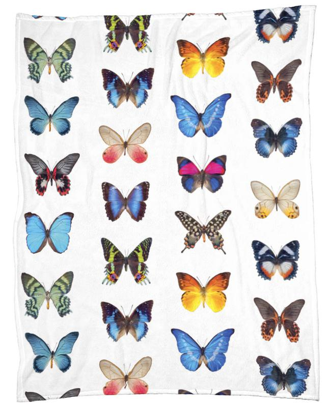 Colourful Butterflies Fleece Blanket