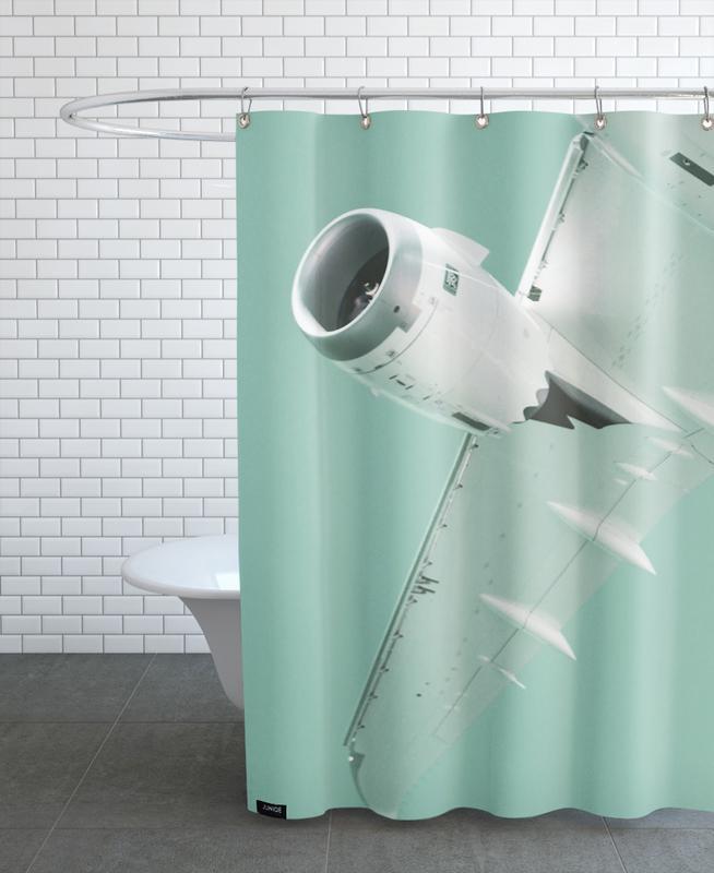 Overhead X Shower Curtain