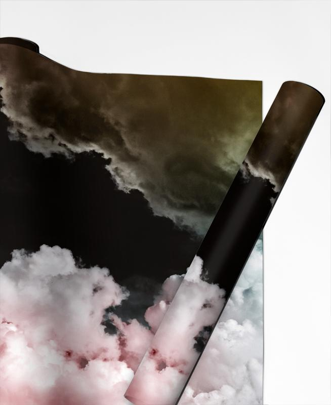 Abstract Landscapes, Skies & Clouds, Rosa Wolken Gift Wrap