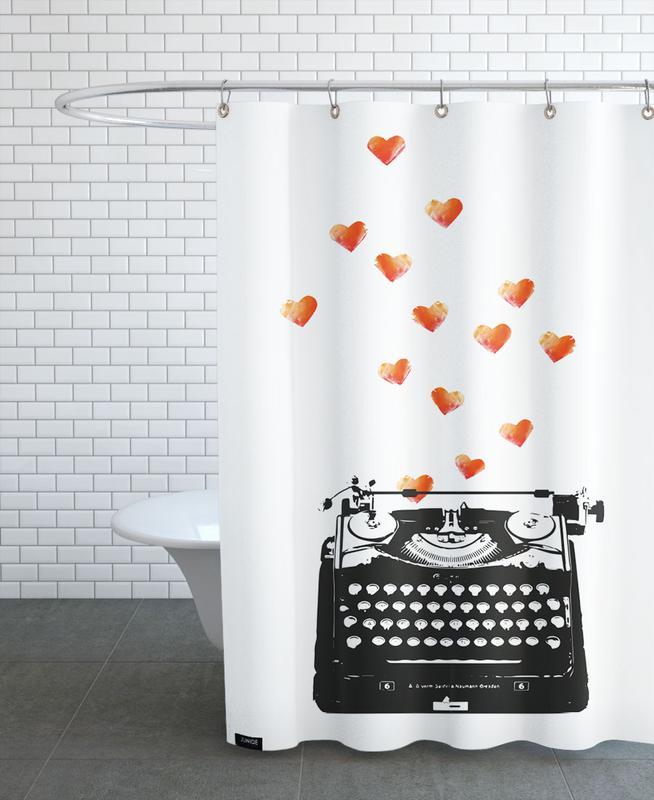 Anniversaires de mariage et amour, Saint-Valentin, Loveletter rideau de douche