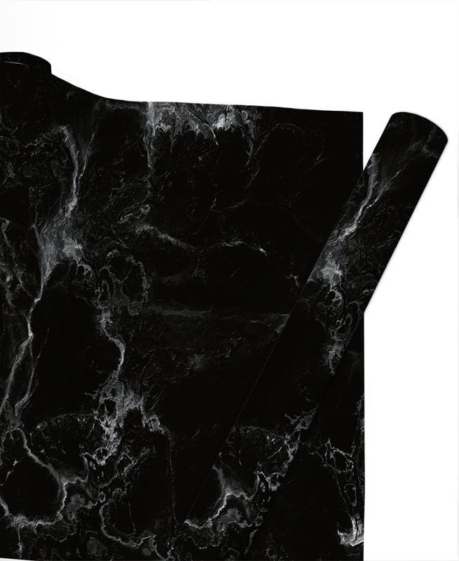 Schwarzer Marmor -Geschenkpapier