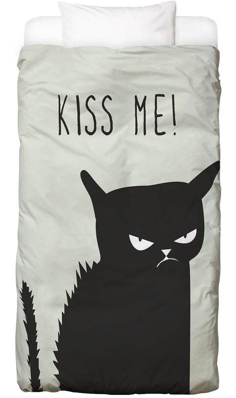 Liebeszitate, Lustig, Katzen, Kiss Me Cat Bettwäsche