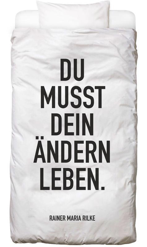 Schwarz & Weiß, Zitate & Slogans, Motivation, Ändern Leben Bettwäsche