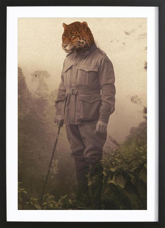 Jungle Jaguar ingelijste print