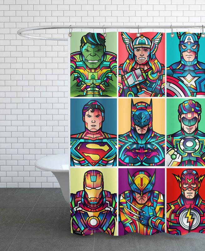 Super Pop -Duschvorhang