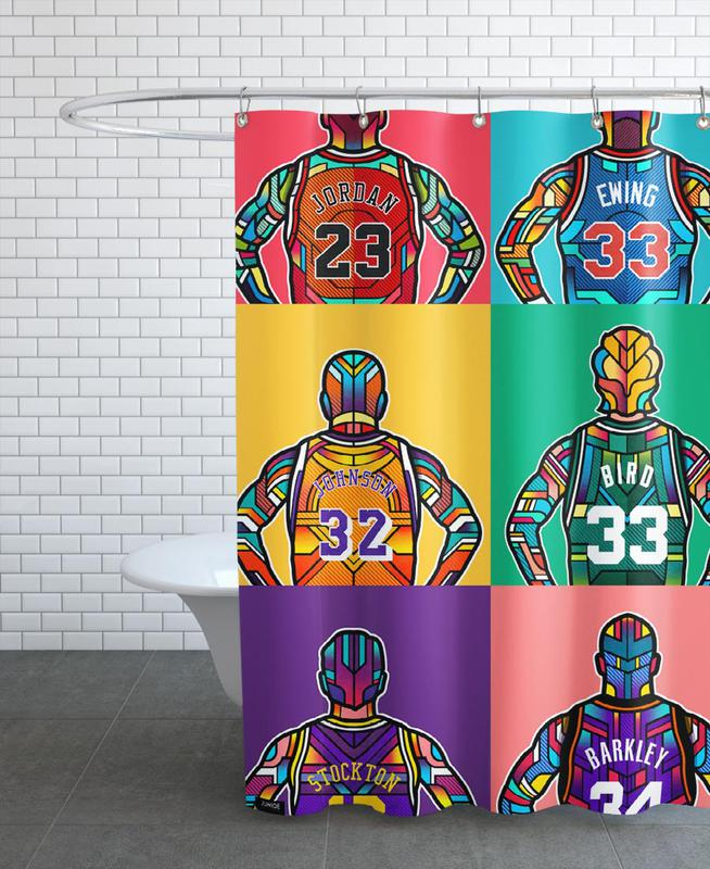 NBA Legends Shower Curtain