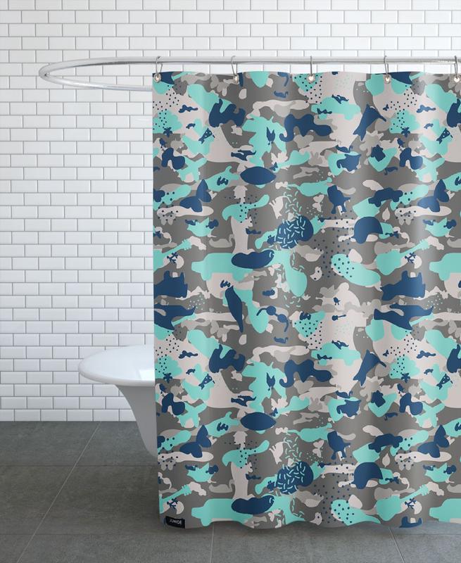 UN/HIDE - Camo Akhdir Shower Curtain
