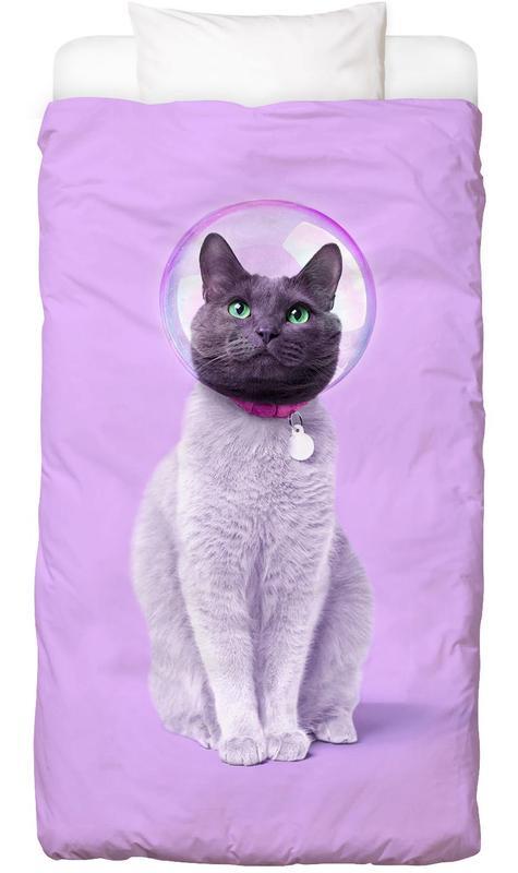 Astronauten, Kinderzimmer & Kunst für Kinder, Katzen, Space Cat Bettwäsche