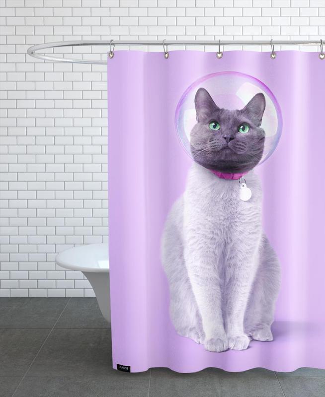 Astronautes, Art pour enfants, Chats, Space Cat rideau de douche