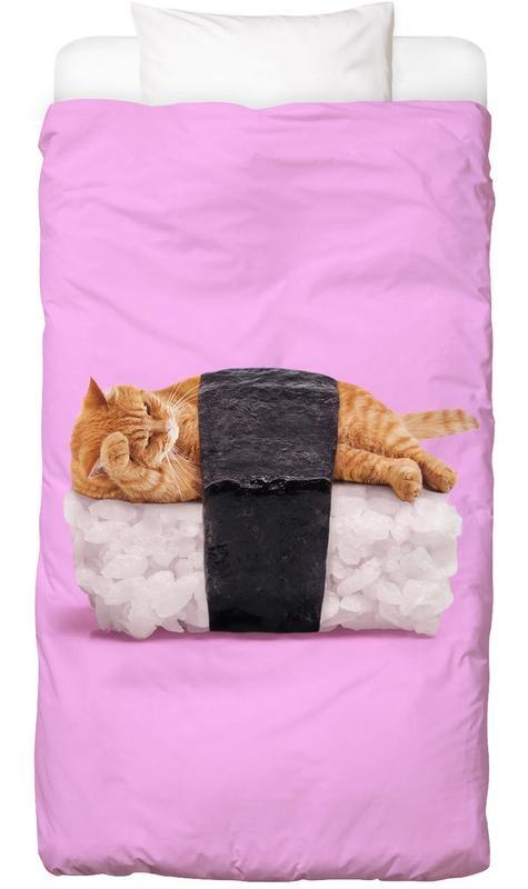 Katzen, Sushi Cat Bettwäsche