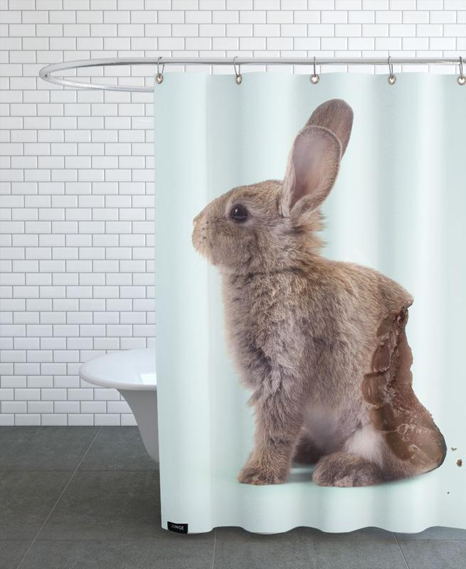 Chocolate Rabbit Shower Curtain