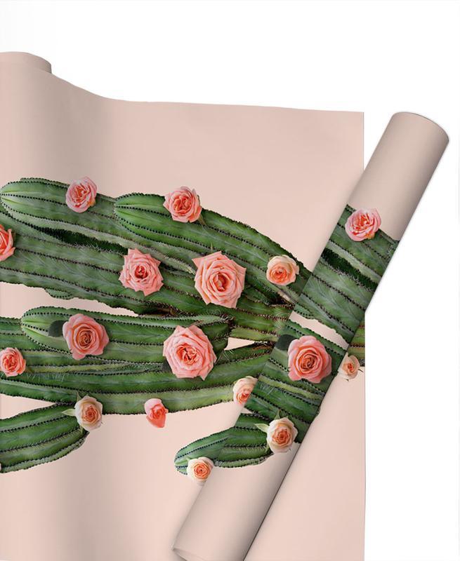 Félicitations, Cactus, Feuilles & Plantes, Cactus Roses papier cadeau