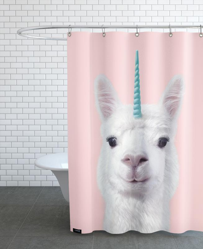 Alpaca Unicorn Shower Curtain