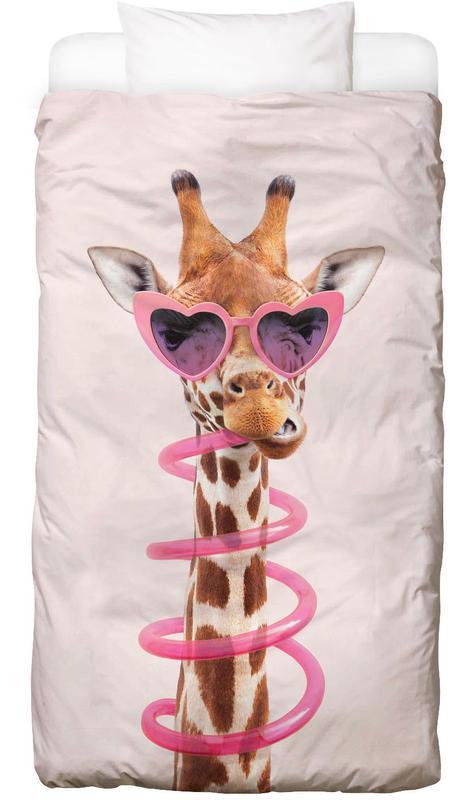 Kinderzimmer & Kunst für Kinder, Lustig, Giraffen, Thirsty Giraffe Bettwäsche