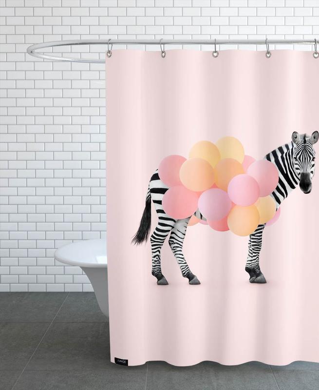 Zebra Balloon -Duschvorhang
