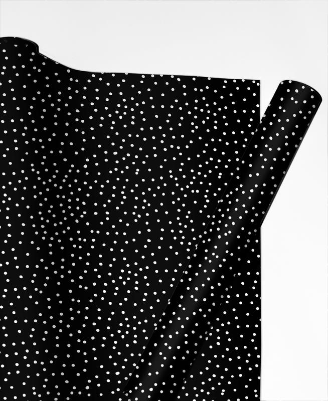 White Dots Gift Wrap