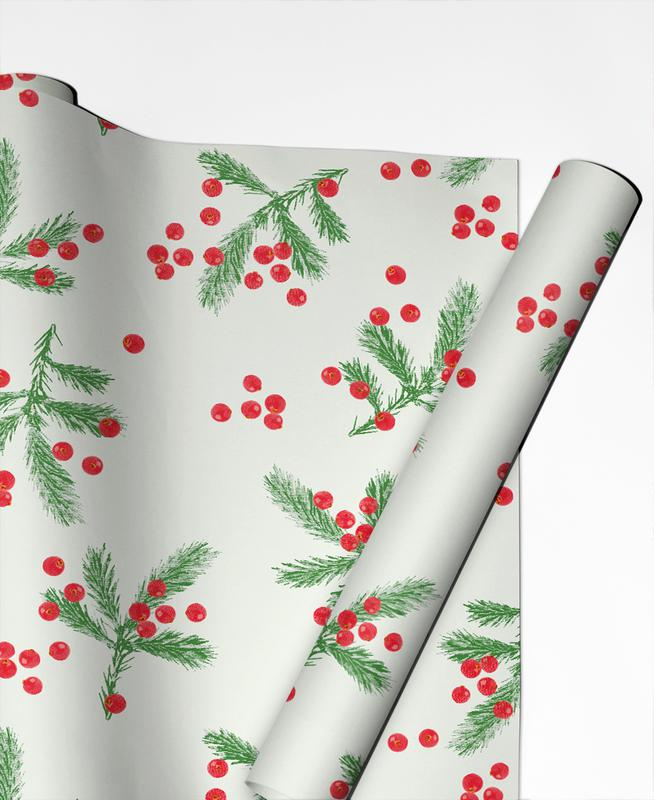 Christmas Berries Gift Wrap