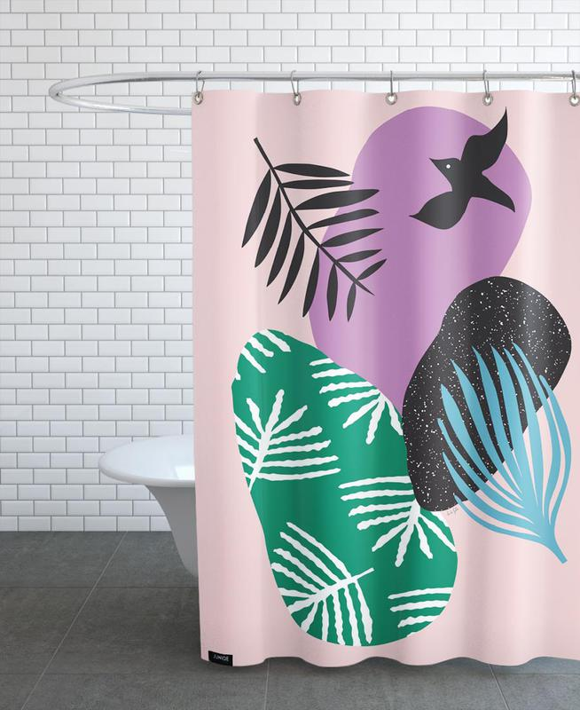 Mariages, Colombes, Love Birds in Pink rideau de douche