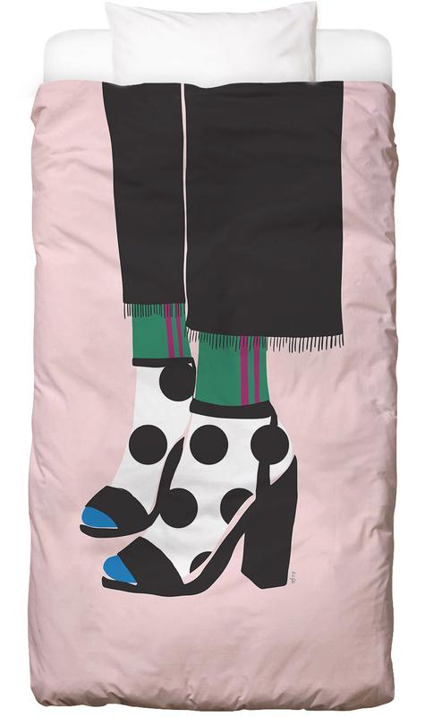 Polka Dot Socks in Heels Bed Linen
