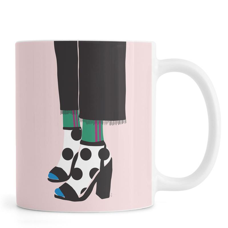 Polka Dot Socks in Heels Mug
