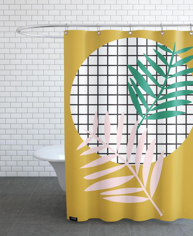 Palm Leaves in Mustard Shower Curtain