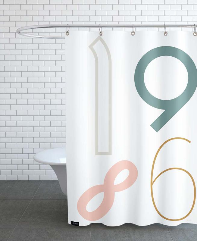 1986 Shower Curtain