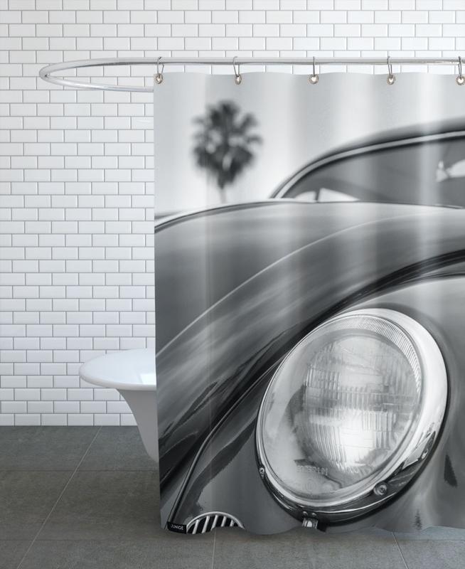 Black & White, Cars, California Beetle Shower Curtain