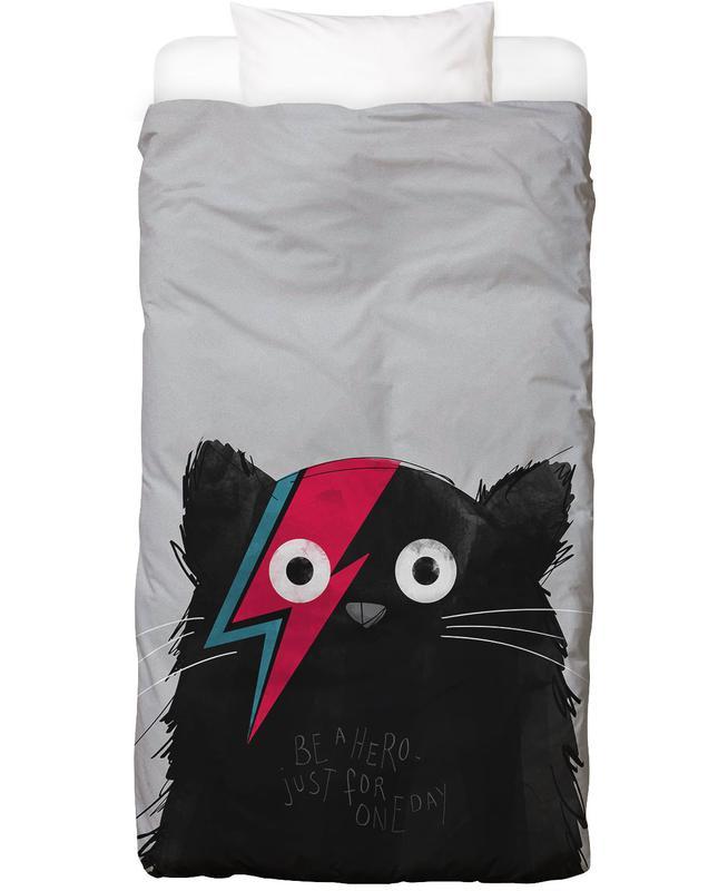 Chats, Art pour enfants, Cat Hero housse de couette enfant