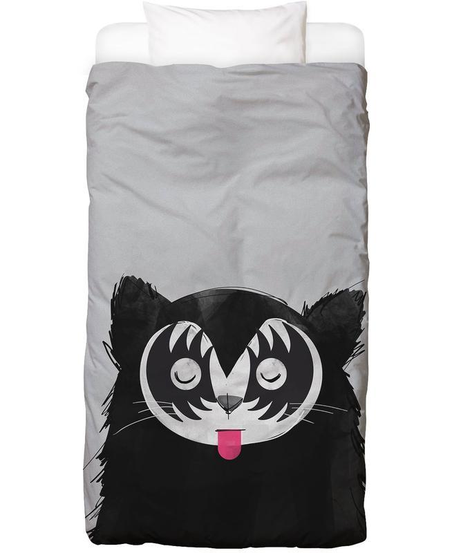 Chats, Art pour enfants, Cat Rock On housse de couette enfant