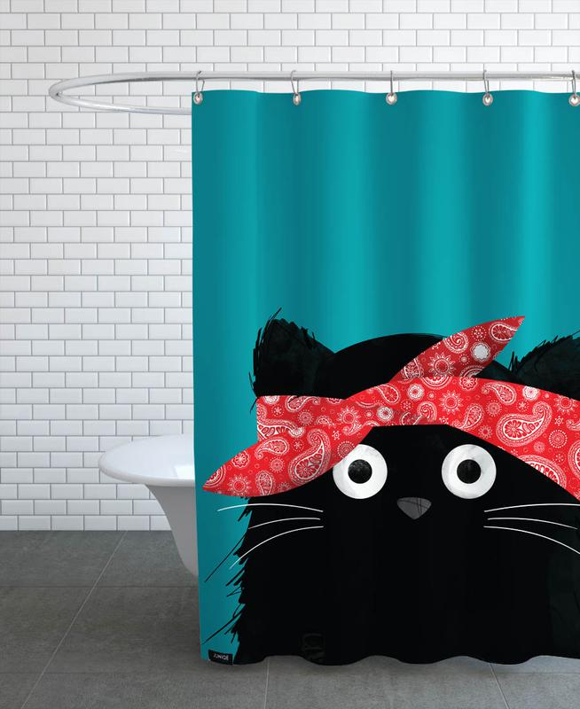 Cat - 2 Pac Shower Curtain