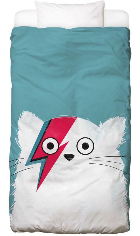 David Bowie, Katzen, Cat - Hero 3 Bettwäsche
