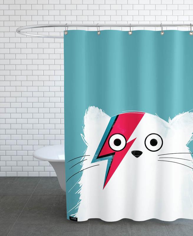 David Bowie, Katzen, Cat - Hero 3 -Duschvorhang